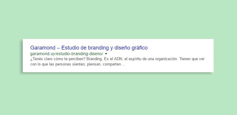 resultados de búsqueda en Google del estudio Garamond