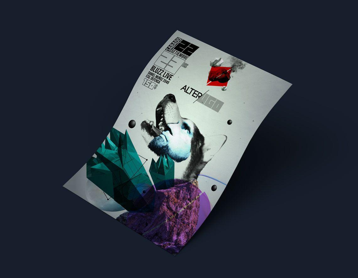 diseño afiche para concierto de rock para Alter Ugo