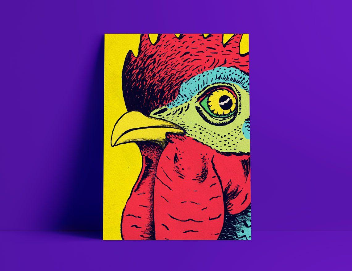 poster garamond ilustracion