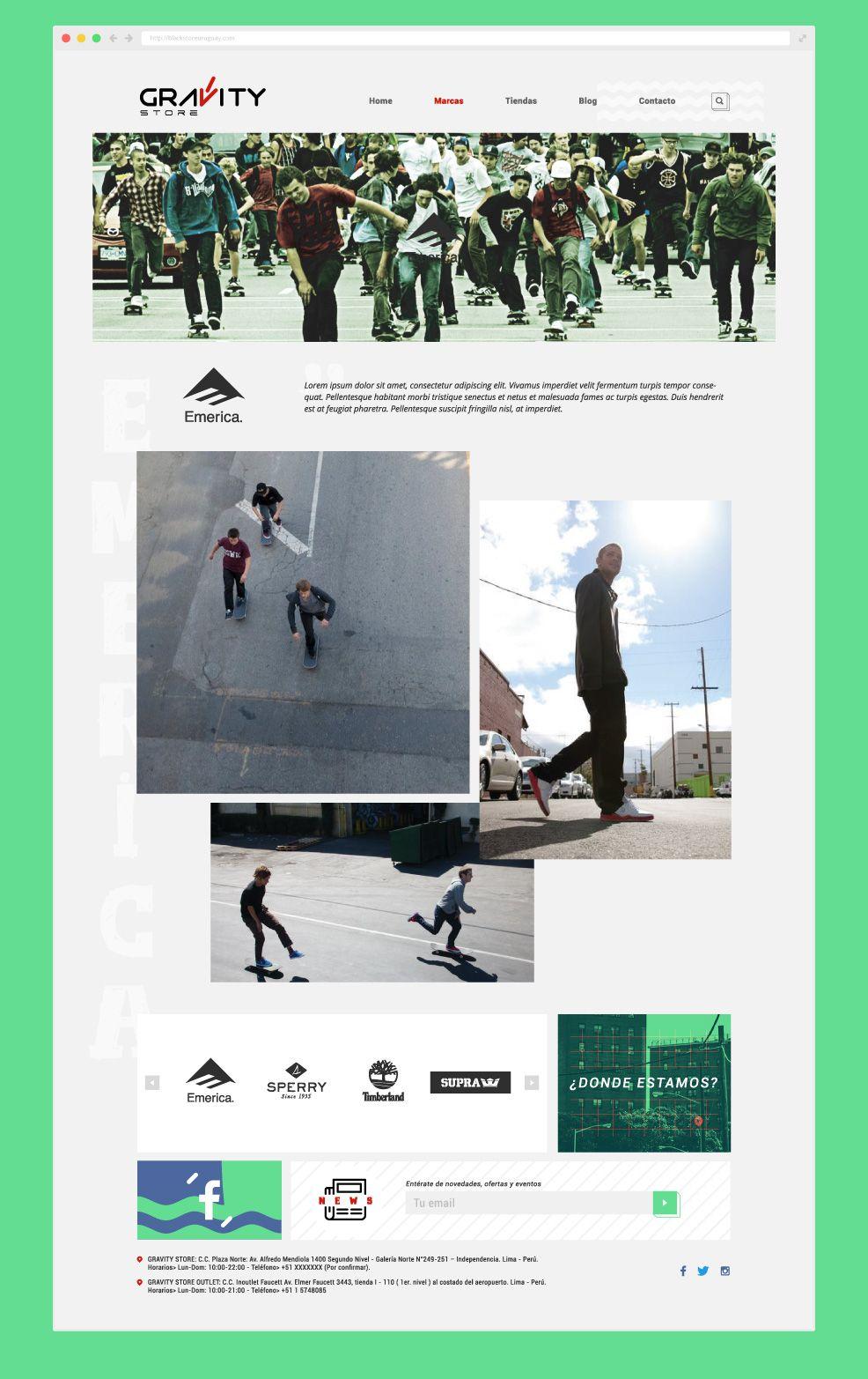 Diseño web responsivo marca Emerica