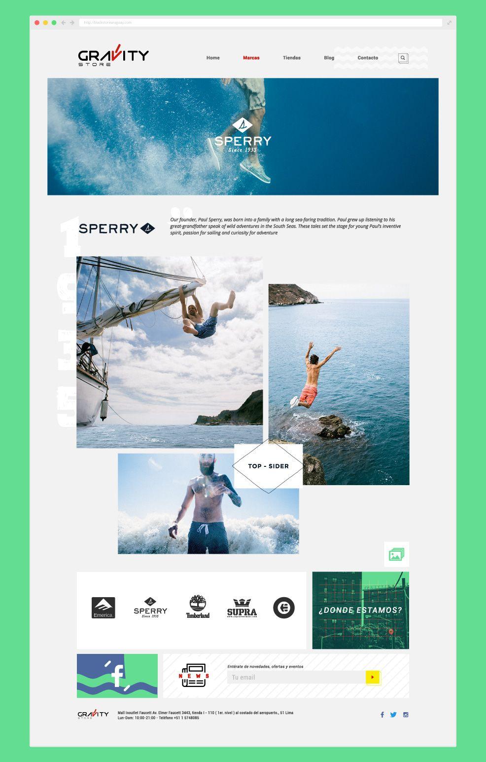 Diseño y desarrollo web de la marca Sperry