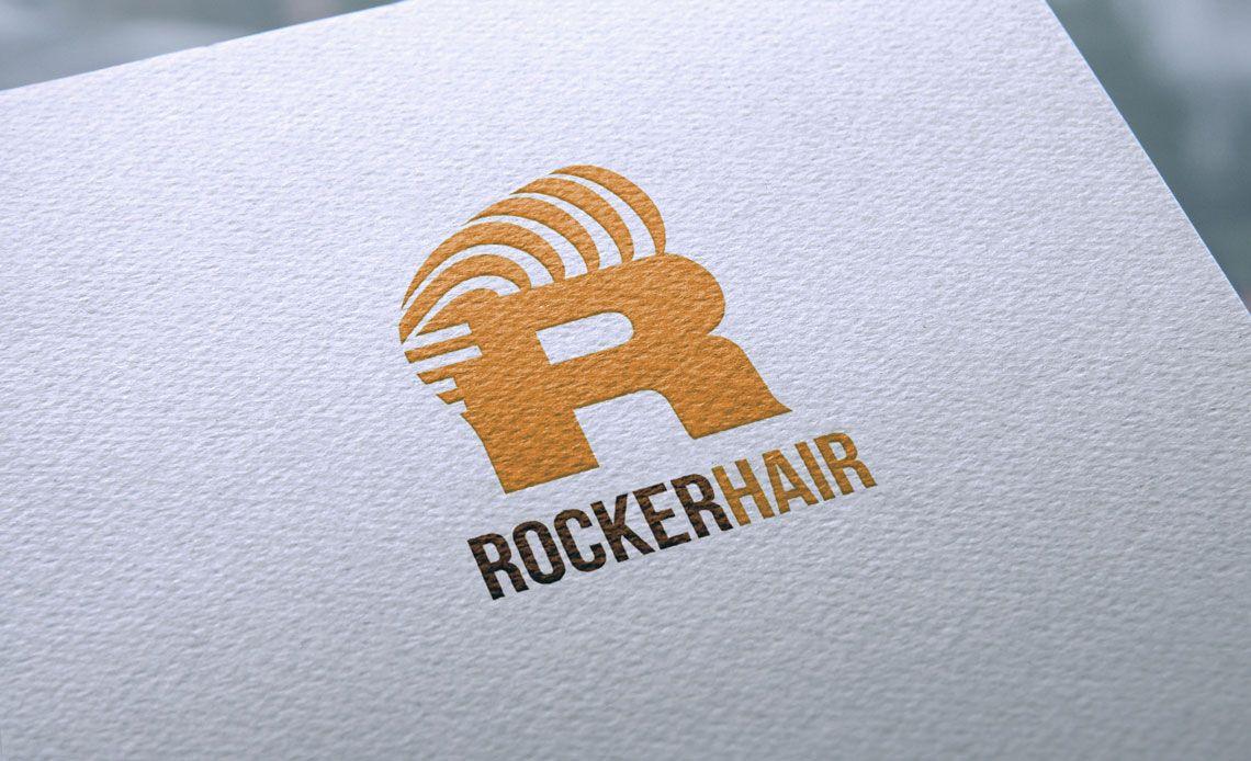 logotipo rocker hair