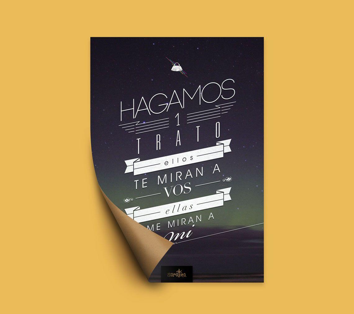 Saratina diseño de poster
