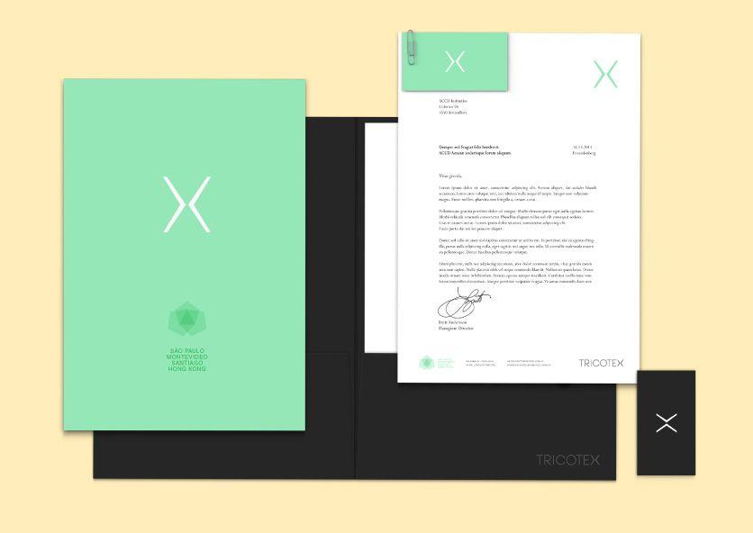 diseño de papeleria para Tricotex