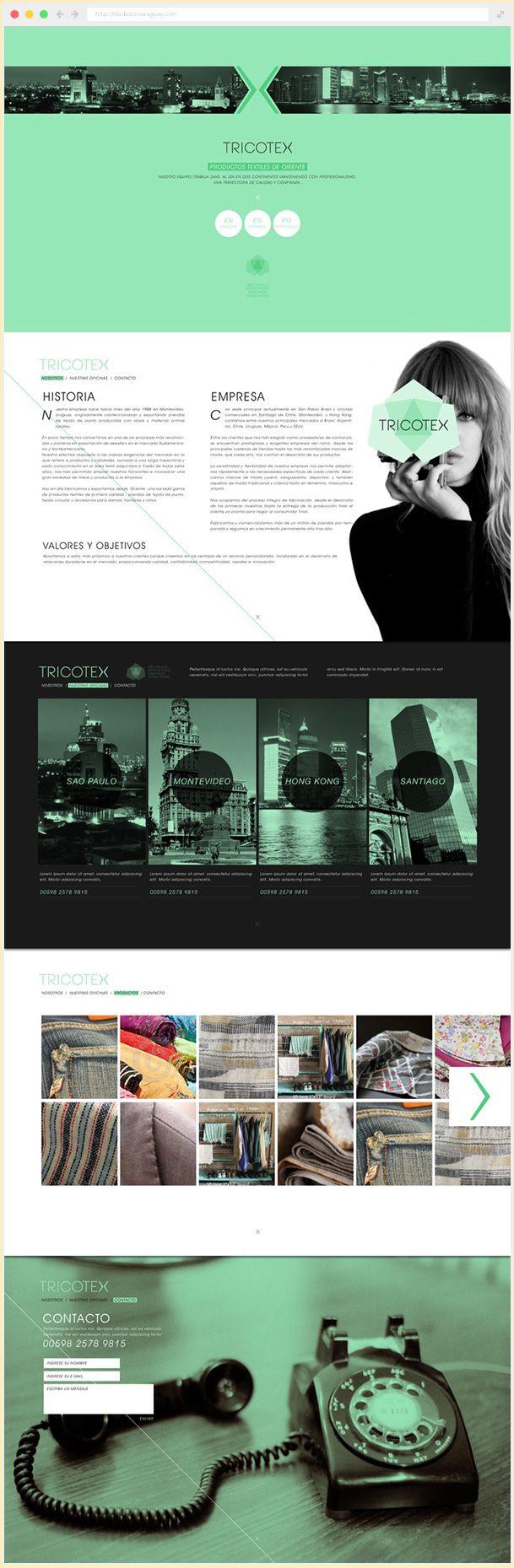 Diseño web onepage para Tricotex