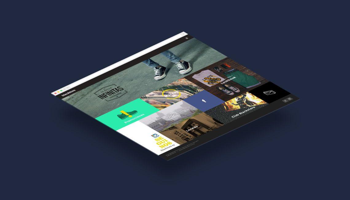 diseño de sitio web para blackstore