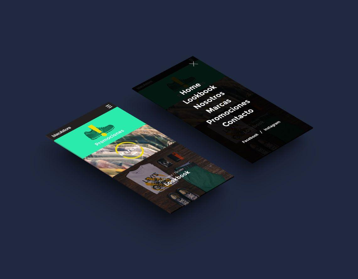 diseño web responsivo para la tienda blackstore