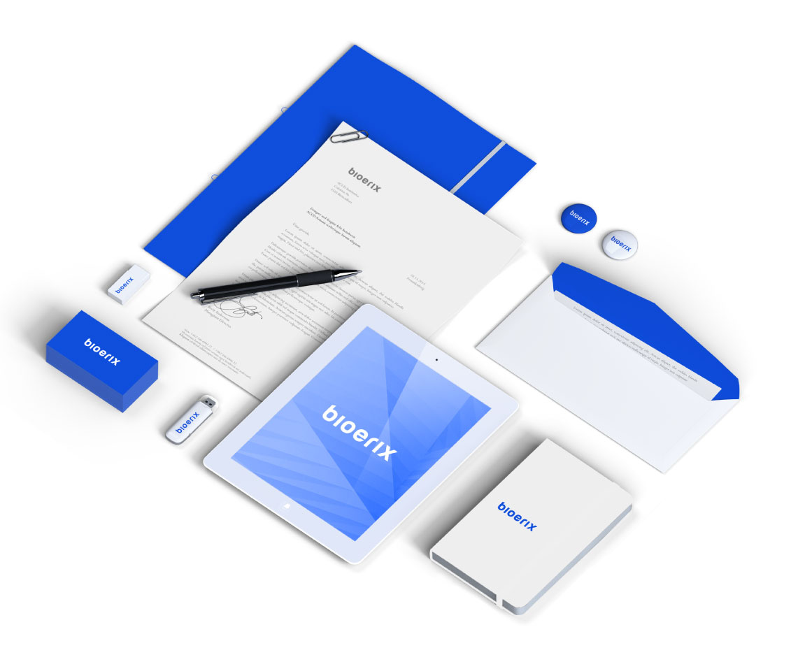 diseño de papeleria para Bioerix