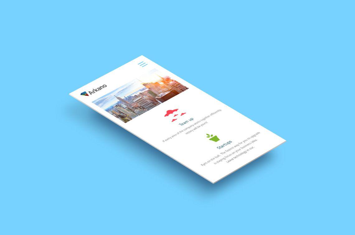 diseño responsive para sitio web de Arkano