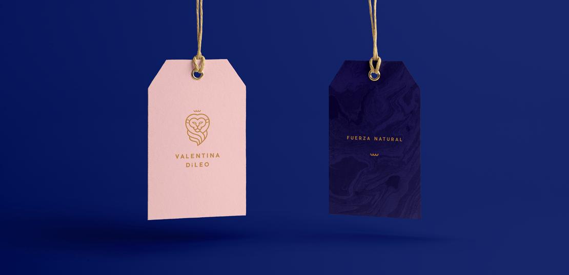 diseño de etiquetas para Valentina dileo