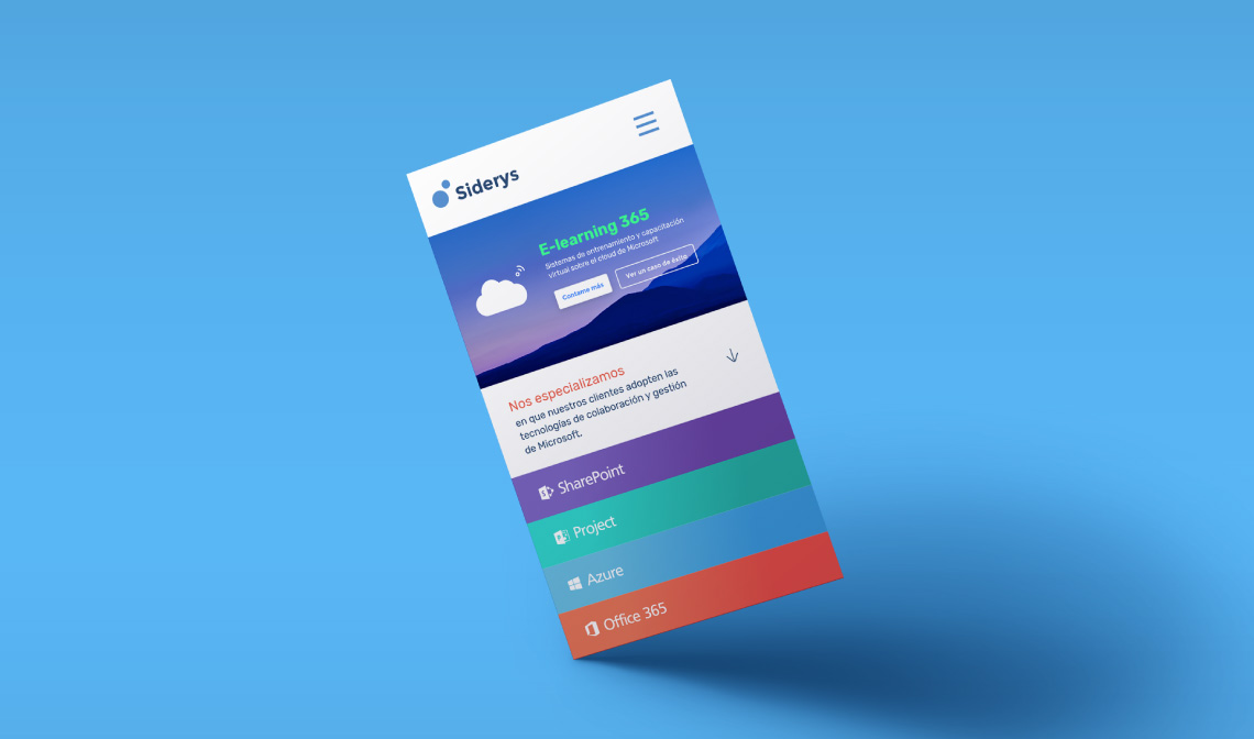 diseño y desarrollo web responsive para Siderys